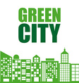 Green city design vector image