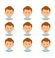 set of boy emotions vector image