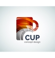 Coffee cup logo template vector image vector image