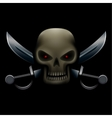 skull with sabers in dark vector image