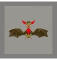 flat shading style icon cute bat vector image