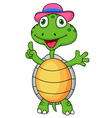 Cute turtle with thumb up vector image vector image