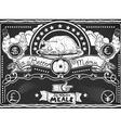 Vintage Graphic Blackboard for Chicken Menu vector image