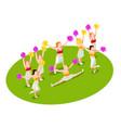 cheerleading isometric vector image