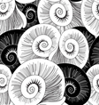 graphic pattern of shells vector image vector image