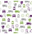 Logistics seamless pattern vector image
