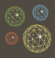 Abstract geometric sphere collection vector image