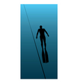 underwater diving illustration vector image vector image