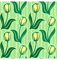 tulip seamless background pattern vector image vector image