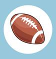 american football ball equipment icon vector image