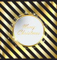 black christmas background with golden stripes vector image