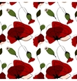 Poppy flower summer seamless pattern vector image