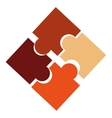 puzzle design pieces icon Flat and isolated vector image