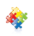 puzzles isolated vector image