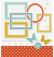 Retro scrapbook set vector image