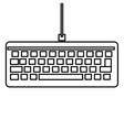 simple keyboard icon vector image