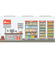 supermarket interior vector image