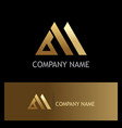 triangle shape business gold logo vector image