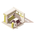 isometric low poly car wash icon vector image vector image