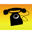 silhouette of a telephone vector image