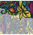 Modern colorful invitation card vector image