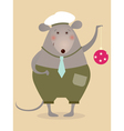Funny mouse vector image