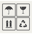 Fragile icons vector image