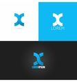 letter X logo design icon set background vector image