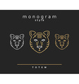 Monogram bear Totem bears A set of monogrammed vector image
