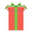 red gift box icon vector image