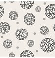 Seamless pattern with sketch circles vector image