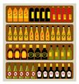 Store shelves vector image