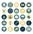 icons plain round business money vector image vector image