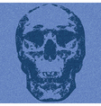 skull print vector image vector image