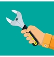 Allen wrench with plastic handle vector image