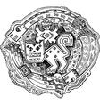 Feline Maya style drawing vector image