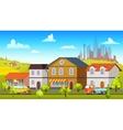 Colorful Landscape Template vector image