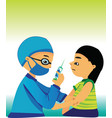 child care doctor vector image