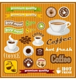 Set of vintage coffee and tea icon vector image vector image