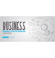 Business Management Concept with Doodle design vector image