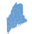 State map of Maine by counties vector image