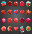 Big set of round red button vector image