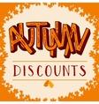 Autumn discounts vector image