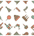 colorful vintage party icons seamless texture on vector image