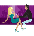 couple in the bar vector image