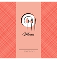 Cover for menu vector image