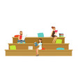 freelancers working in creative space coworking vector image