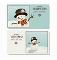 Greeting card Christmas and a Happy New Year vector image