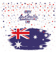 happy australia day flag poster with colorful vector image