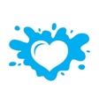Love milk sign vector image